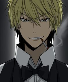 If 'Fifty Shades of Grey' became an anime, Shizuo gets my vote, base on this head shot pic here, for the leading role of the sadistic hero.