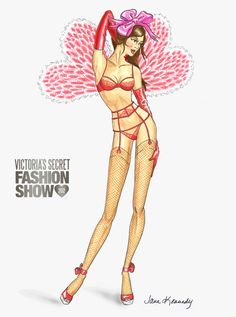 Illustration by Jane Kennedy for the Victoria's Secret Fashion Show 2012 www.janelkennedy.com
