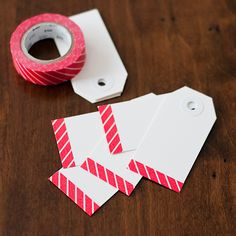 DIY Washi Tape Gift Tags www.washitapes.nl
