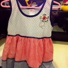 Poko Dots with Chequered Dress 3-4 yrs S$12.90