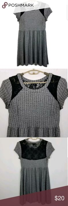 86b134197f3 Torrid Sweater Dress Size 0 Large Lace Back Torrid Dress - Torrid Size 0    Large