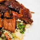 Slow roasted lamb shoulder with Moroccan-inspired rub