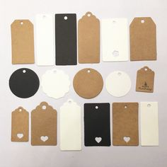 Kraft paper tags - 100 Pcs A Variety Of Styles Kraft Paper Tags Gift Hang Tag Diy Decoration Clothing – Kraft paper tags Paper Packaging, Jewelry Packaging, Cosmetic Labels, Diy Party Decorations, Diy Decoration, Paper Tags, Paper Paper, Candy Party, Hang Tags