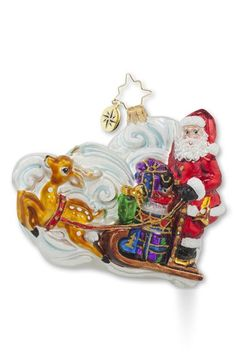 Christopher+Radko+'Guide+the+Way'+Santa's+Sleigh+Ornament+available+at+#Nordstrom