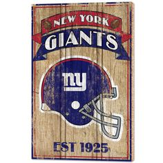 """New York Giants Est 1925 Wooden Sign"""" - Enthoozies New York Teams, Nfl New York Giants, Beer Bottle Opener, All Team, All Things New, Novelty Gifts, Wooden Signs, Man Cave, Fence"""