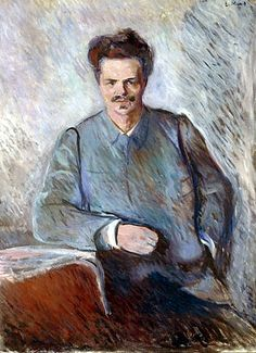 Edvard Munch - August Strindberg, 1892