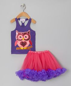 Take a look at this Purple Sequin Owl Tank & Pink Tutu - Infant, Toddler & Girls by The Princess and the Prince on #zulily today!