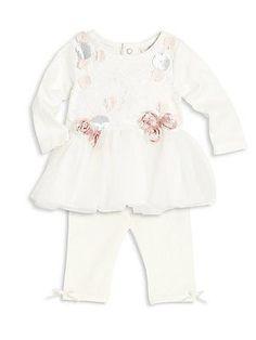 Miniclasix Baby's Top & Pants Set - Ivory