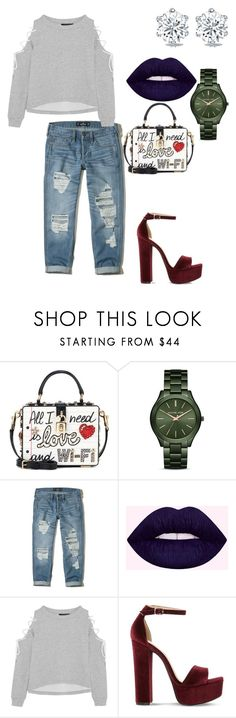"""""""Untitled #368"""" by carterraven on Polyvore featuring Dolce&Gabbana, MICHAEL Michael Kors, Hollister Co., W118 by Walter Baker and Steve Madden"""