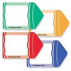 SmileMakers® Crayon Name Tag Stickers; 75/Roll