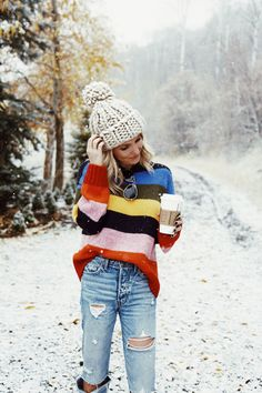 Somewhere Lately: Rainbow Sweater | Sweater: Urban Outfitters | Ring: Namesake Ring by Kerry Gilligan