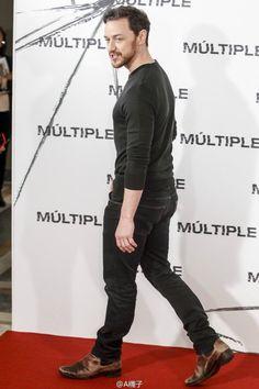 James McAvoy at the Madrid screening of Split on 12 Jan 2017