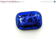 Vintage Brilliant Blue Glass Pin Brooch #bestofEtsy #jewelry