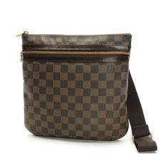 Louis Vuitton Pochette Bosphore Damier Ebene Cross body bags Brown Canvas N51111