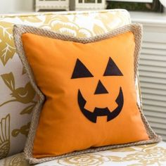 Jack O' Lantern Pumpkin Pillow Cover