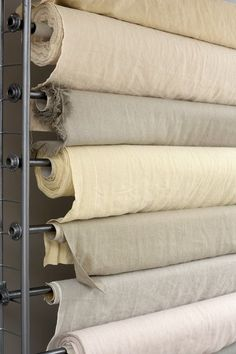Linen is breathable, durable, lightweight, absorbent, cool and good for summertime. Linen Curtains, Linen Fabric, Linen Bedding, Textiles, Linens And Lace, Natural Linen, Cubicle Makeover, Shabby Chic, Beige