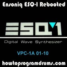 New Ensoniq ESQ-1 patches for Kontakt and SFZ samplers - available soon!