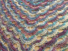 Virus shawl crochet pattern ~ Free Patterns