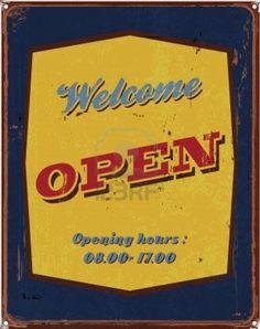 14377327-vintage-tin-poster-welcome-open-sign.jpg 948×1,200 pixels
