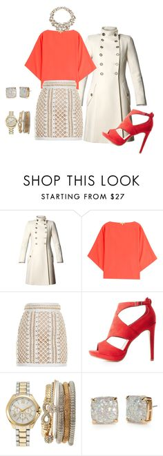 """""""party night"""" by maryemmanuel on Polyvore featuring MANGO, Jenny Packham, Michael Kors, Balmain, Delicious, Jessica Carlyle and Kate Spade"""