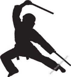 silhouette stick fighting - Google Search