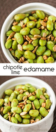 Chipotle Lime Edamame : Looking for healthier snacks? Spice up edamame using simple spices. Its a protein packed snack Flavorful and healthy side dish idea! Healthy Side Dishes, Side Dish Recipes, Healthy Sides, Appetizer Recipes, Snack Recipes, Kid Recipes, Recipes Dinner, Vegetable Snacks, Simple Vegetable Recipes