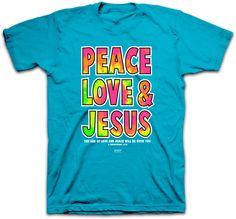 Peace, Love & Jesus Christian T-shirt