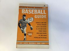 Vintage 1969 Baseball Guide Sports Series 1001 Facts Fans Love Media Schedules
