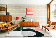 #interiors #SittingRoom #vintage #HomeDecor #wood #orange