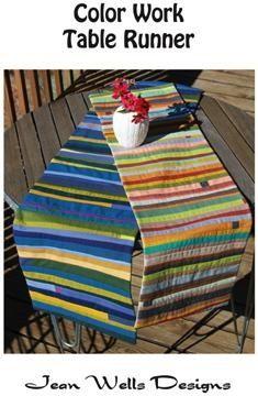 Color Work Table Runner Pattern