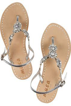 0a91602f4161d Musa - Swarovski crystal-embellished leather sandals