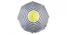 Pas på solen! Parasol, Jackie, i 100 % polyester, h 184 cm, diam. 180 cm, $71/400 kr., House Doctor.