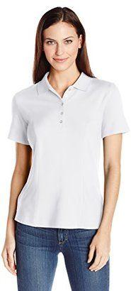 Riders by Lee Indigo Women's Morgan Short Sleeve Polo Shirt - Shop for women's Shirt - Arctic White Shirt