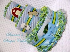 john deere baby shower cakes and ideas | Baby Diaper Cakes John Deere Boys Shower by Diannasdiapercakes