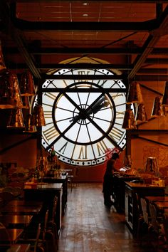 Kitchen inside a clock tower in Paris