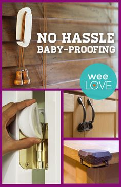 Rhoost's modern baby-proofing gear doesn't require screws, tools, or adhesives... we're in love. | weeLove from www.weeSpring.com