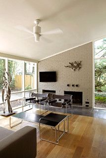 Mid-Century Mod re-do - midcentury - living room - dc metro - by KUBE architecture