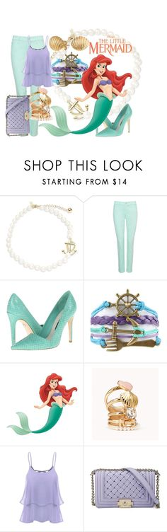 """Ariel"" by janastasiagg ❤ liked on Polyvore featuring Kate Spade, NYDJ, Alice + Olivia, Disney, Forever 21, Bling Jewelry, disney and disneybound"