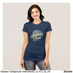 Summer  background  with lettering Women's t-shirt
