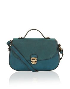 Perfectly-sized for everyday essentials, our Rita mini across-body bag has a curved front closure with a gold-tone metal clasp. Features an adjustable and detachable shoulder strap. Across Body Bag, Blue Bags, British Clothing, Shoulder Strap, Teal, Mini, Essentials, Closure, Accessories