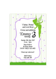fairy party printable invitation by on etsy