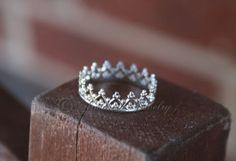 Sterling Silver Princess Prince Royal Crown Ring by ArmoredJewelry