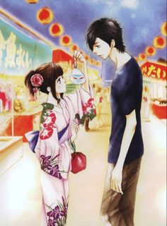 Image about couple in Anime/Manga/ Cartoon/ Film/ Game by I Love Anime, Me Me Me Anime, Yamato Kurosawa, Manga Anime, Vocaloid, My Little Monster, Manga Covers, Fan Art, Say I Love You