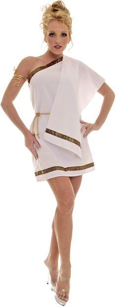 Toga Female Woman Costume Greek Goddess Roman Athena Costume Dress 28499 | eBay