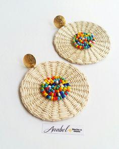 Fabric Earrings, Wood Earrings, Fabric Jewelry, Beaded Earrings, Beaded Jewelry, Crochet Earrings, Handmade Jewelry, Jewellery, Bead Embroidery Jewelry