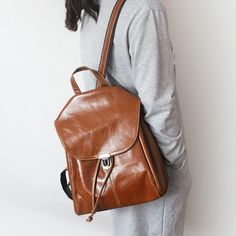 fd66eafbab6b Famous Brand Backpack Women Backpacks Solid Vintage Girls School Bags for  Girls Black Genuine Leather Women Casual Backpack -in Backpacks from  Luggage ...