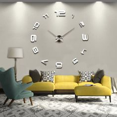 DIY Wall Clock Sticker Modern Design Large Clocks Big Wall Watch Home Decor Cool Mirror Sticker Art Hours Price history. Category: Home & Garden. Subcategory: Home Decor. Wall Clock Numbers, Big Wall Clocks, Mirror Wall Clock, 3d Mirror, Diy Living Room Decor, New Living Room, Diy Home Decor, Sticker Art, Wall Clock Sticker