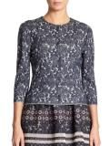 St John Floral Jacquard Knit Jacket | Coat, Jacket and Clothing