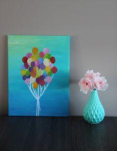 Schilderij met ballonnen - DIY   Lisanne Leeft Diys, Frame, Home Decor, Picture Frame, Decoration Home, Bricolage, Room Decor, Do It Yourself, Frames