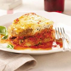 """The Best Eggplant Parmesan:""""Truly delicious! I love eggplant and have many recipes, but this one's my favorite. The cheeses and seasonings make this dish unforgettable."""" —Dottie Kilpatrick, Wilmington, North Carolina:http://www.tasteofhome.com/Recipes/The-Best-Eggplant-Parmesan"""